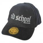 Baseballcap mit Einstickung - old school Trucker - 68498 schwarz