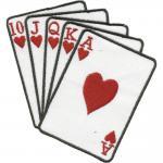 Aufnäher - Spielkarten - 03171 - Gr. ca. 6, 5 x 5 cm - Patches Stick Applikation