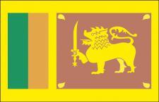 Stockländerfahne - Sri Lanka - Gr. ca. 40x30cm - 77155 - Schwenkfahne mit Holzstock, Länder-Flagge