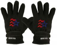 """(40385-56527) Fleece Handschuhe mit Einstickung """" BLAUER STERN"""