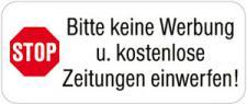 PVC-Aufkleber - BITTE KEINE WERBUNG - 302078/1 - Gr. ca. 48 x 20 mm