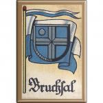 Küchenmagnet - Wappen Bruchsal - Gr. ca. 8 x 5, 5 cm - 37512 - Magnet Kühlschrankmagnet