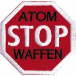 AUFNÄHER - Atom Stop Waffen - 00036 - Gr. ca. 7, 5 x 7, 5 cm - Patches Stick Applikation