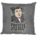 Dekokissen Kissen - Martin Luther Protest Ant 1517 - 11663 grau - incl. Füllung