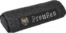 Nackenrolle mit Einstickung - Preussen - Gr. ca. 42 x 16, 5 x 9, 5 cm - 30031 grau