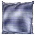 Deko Kissen mit kleinem blau-weißem Karo 40 x 40 cm 11783