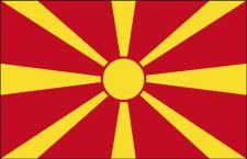 Schwenkflagge - Mazedonien - Gr. ca. 40x30cm - 77106 - Stockländerfahne