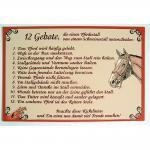 Hinweisschild - 12 Gebote - Gr. ca. 45 x 30 cm - 308574