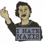 Aufnäher Applikation - I hate Nazis - 00016 - Gr. ca 8 x 6 cm