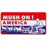 PST-Schild - MUSH ON - AMERICA - Gr. ca. 30 x 15 cm - 309220