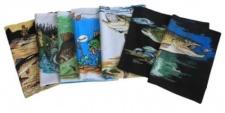 10 x Kissen mit Fuellung Fischmotive Fische Karpfen Forelle etc. Restposten - 100064