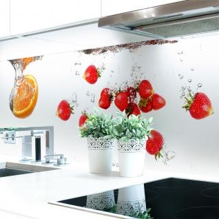 Küchenrückwand Obst Wasser Premium Hart PVC 0, 4 Mm Selbstklebend   Direkt  Auf Die