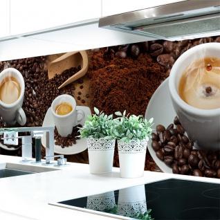 Küchenrückwand Kaffee Mix Premium Hart-PVC 0, 4 mm selbstklebend - Direkt auf die Fliesen