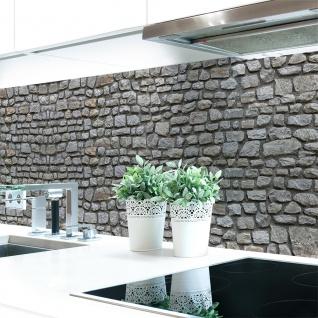 Küchenrückwand Naturstein Grau Premium Hart-PVC 0, 4 mm selbstklebend- Direkt auf die Fliesen