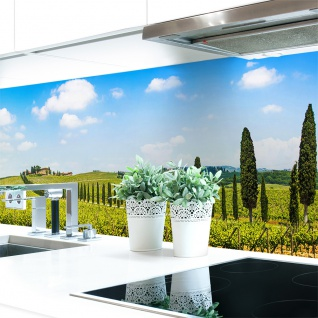 Küchenrückwand Provence Premium Hart-PVC 0, 4 mm selbstklebend - Direkt auf die Fliesen