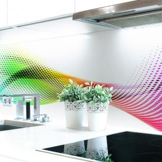 Küchenrückwand Abstrakt Regenbogen Premium Hart-PVC 0, 4 mm selbstklebend - Direkt auf die Fliesen