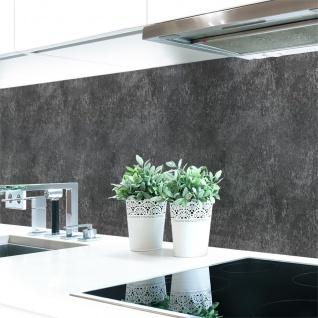 Küchenrückwand Schieferstruktur Anthrazit Premium Hart-PVC 0, 4 mm selbstklebend - Direkt auf die Fliesen