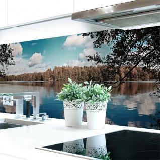 Küchenrückwand Waldsee Premium Hart-PVC 0, 4 mm selbstklebend - Direkt auf die Fliesen