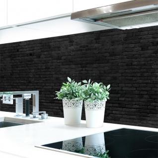 Küchenrückwand Ziegelmauer Anthrazit Premium Hart-PVC 0, 4 mm selbstklebend - Direkt auf die Fliesen