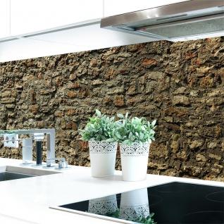 Küchenrückwand Steinmauer Premium Hart-PVC 0, 4 mm selbstklebend - Direkt auf die Fliesen