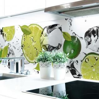 Küchenrückwand Limetten Eiswasser Premium Hart-PVC 0, 4 mm selbstklebend - Direkt auf die Fliesen