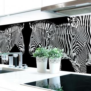 Küchenrückwand Zebra Look Premium Hart-PVC 0, 4 mm selbstklebend - Direkt auf die Fliesen