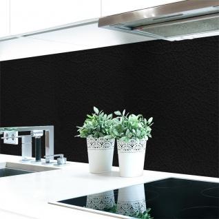Küchenrückwand Leder Schwarz Premium Hart-PVC 0, 4 mm selbstklebend - Direkt auf die Fliesen