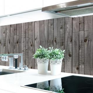Küchenrückwand Holzwand Grau Premium Hart-PVC 0, 4 mm selbstklebend - Direkt auf die Fliesen