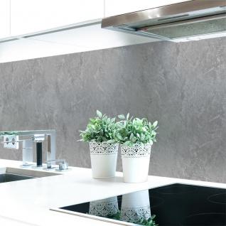 Küchenrückwand Steinwand Hellgrau Premium Hart-PVC 0, 4 mm selbstklebend - Direkt auf die Fliesen
