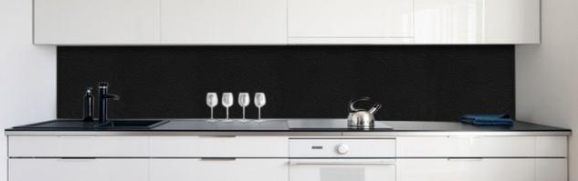 Küchenrückwand Leder Schwarz Premium HartPVC Mm - Leder fliesen kaufen