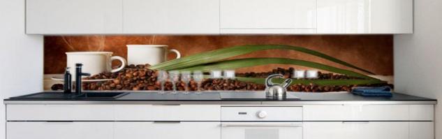 Küchenrückwand Kaffee Tassen Bohnen Premium Hart-PVC 0, 4 mm selbstklebend - Direkt auf die Fliesen - Vorschau 2