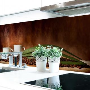 Küchenrückwand Kaffee Tassen Bohnen Premium Hart-PVC 0, 4 mm selbstklebend - Direkt auf die Fliesen
