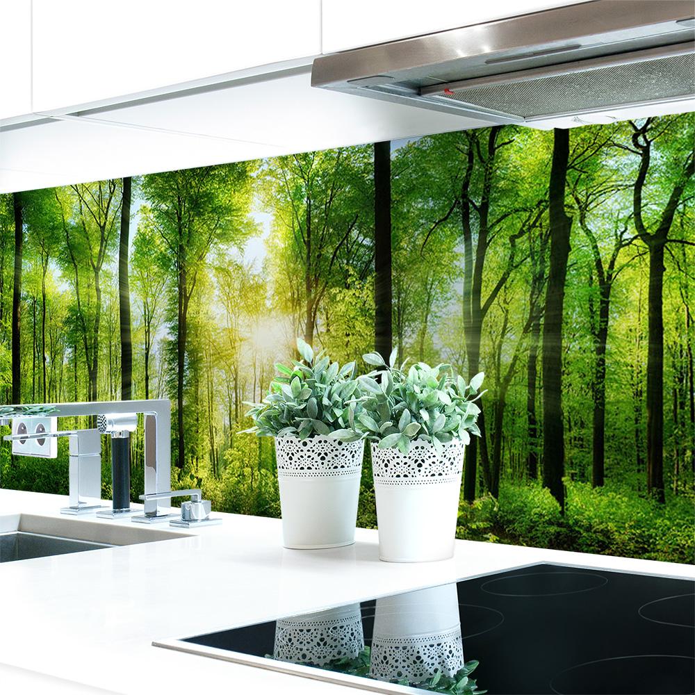 küchenrückwand waldlichtung premium hart-pvc 0, 4 mm selbstklebend