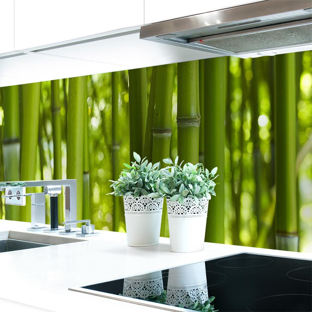 k chenr ckwand bambus premium hart pvc 0 4 mm. Black Bedroom Furniture Sets. Home Design Ideas