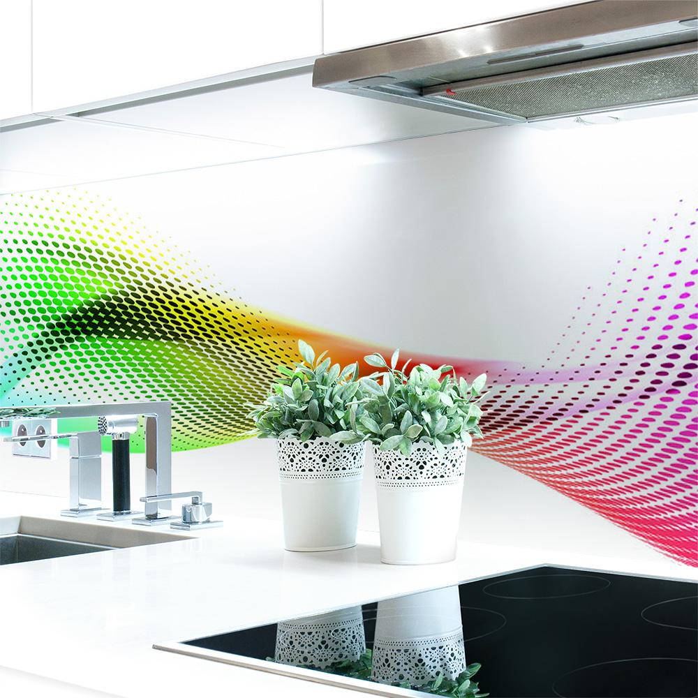 k chenr ckwand abstrakt regenbogen premium hart pvc 0 4 mm selbstklebend direkt auf die. Black Bedroom Furniture Sets. Home Design Ideas