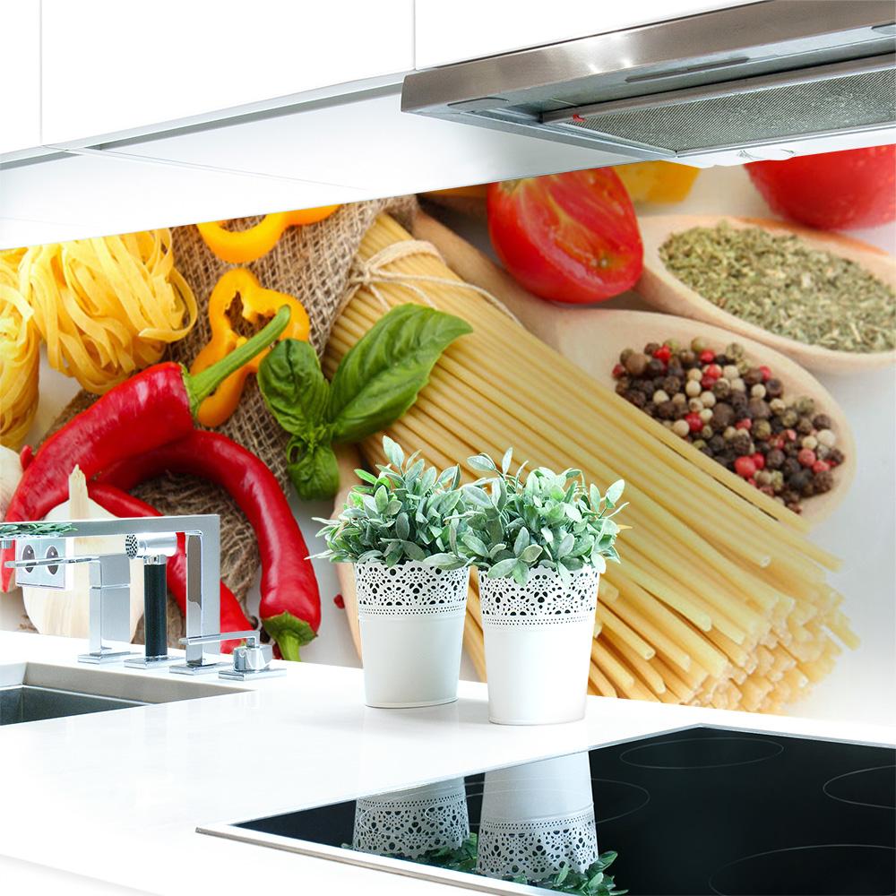 Kuchenruckwand Pasta Love Premium Hart Pvc 0 4 Mm Selbstklebend