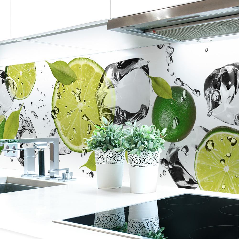 Kuchenruckwand Limetten Eiswasser Premium Hart Pvc 0 4 Mm