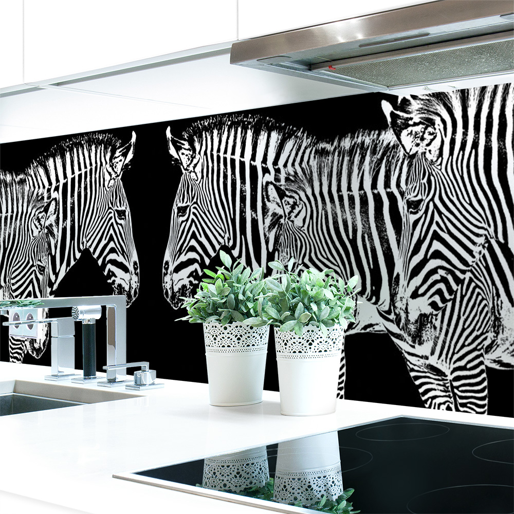 k chenr ckwand zebra look premium hart pvc 0 4 mm. Black Bedroom Furniture Sets. Home Design Ideas