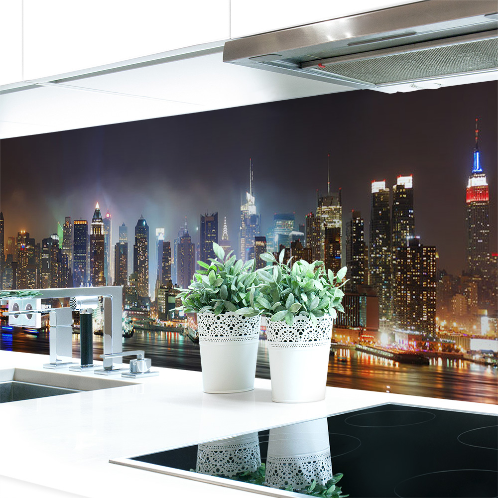 Kuchenruckwand Skyline Premium Hart Pvc 0 4 Mm Selbstklebend