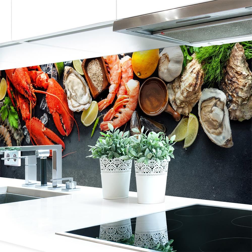 k chenr ckwand seafood premium hart pvc 0 4 mm. Black Bedroom Furniture Sets. Home Design Ideas