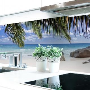 Küchenrückwand Palmen Strand Premium Hart-PVC 0, 4 mm selbstklebend - Direkt auf die Fliesen