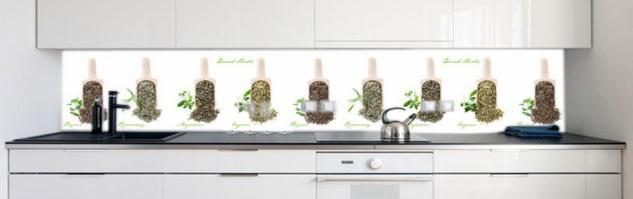 Küchenrückwand Küchen Kräuter Premium Hart-PVC 0, 4 mm selbstklebend - Direkt auf die Fliesen - Vorschau 2