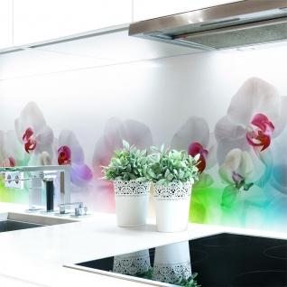Küchenrückwand Orchideen Bunt Premium Hart-PVC 0, 4 mm selbstklebend - Direkt auf die Fliesen