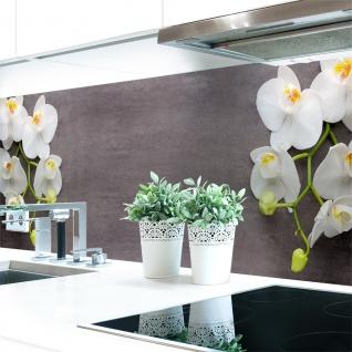 Küchenrückwand Orchideen Zweig Premium Hart-PVC 0, 4 mm selbstklebend - Direkt auf die Fliesen