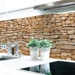 Küchenrückwand Naturstein Braun Premium Hart-PVC 0, 4 mm selbstklebend - Direkt auf die Fliesen