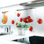 Küchenrückwand Obst Wasser Premium Hart-PVC 0, 4 mm selbstklebend - Direkt auf die Fliesen