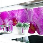 Küchenrückwand Orchideen Blüte Premium Hart-PVC 0, 4 mm selbstklebend - Direkt auf die Fliesen