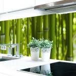 Küchenrückwand Bambus Premium Hart-PVC 0, 4 mm selbstklebend - Direkt auf die Fliesen