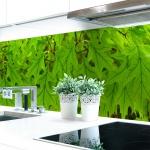 Küchenrückwand Blätter Premium Hart-PVC 0, 4 mm selbstklebend - Direkt auf die Fliesen