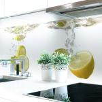 Küchenrückwand Zitronen Wasser Premium Hart-PVC 0, 4 mm selbstklebend - Direkt auf die Fliesen
